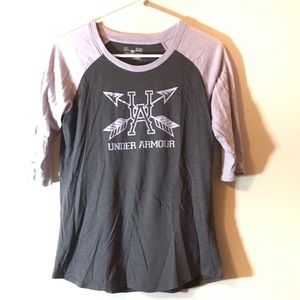 Under Armour Size Small 3/4 Length Sleeve T Shirt